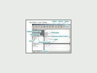 Software zur Analyse und Darstellung von Geschäftseinheiten, Produktgruppen usw.