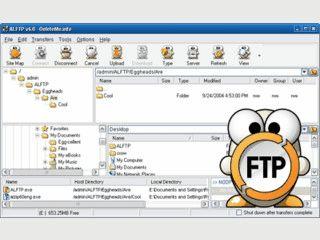 Dieser FTP-Client kann auch gleich als einfacher FTP-Server benutzt werden.