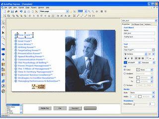 Editor zum Erstellen von Autostart-Menüs für CDs und DVDs.