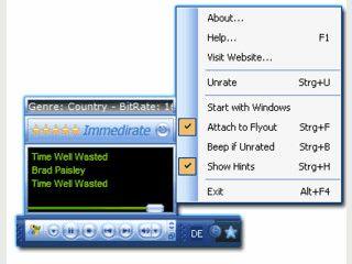 Einfachere Bewertung von Audio-Dateien des Windows Mediaplayers.