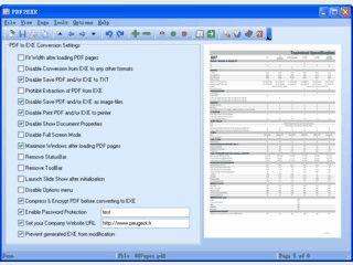 Eine PDF-Datei in eine selbstlaufende EXE Datei konvertieren.
