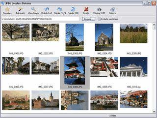 JPEG Lossless Rotator erlaubt das schnelle und verlustfreie Drehen von Bildern.
