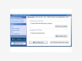 MS Outlook und Outlook Express MSG und EML Dateien konvertieren.
