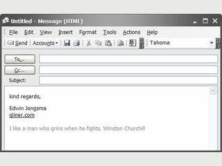 Automatische EMail Signaturen mit Sprüchen, und als Bildschirmschoner.