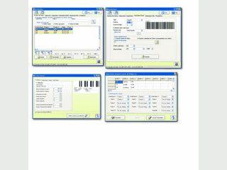 Datenbank-basierte Software zum Drucken und Speichern von Barcode-Etiketten.