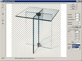 Freistellen von durch- und halbdurchsichtigen Objekten aus Glas, Nebel usw.