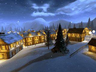 Eine animierte Winterlandschaft schont Ihren Bildschirm.