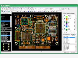 Software zur Gestaltung von Leiterplatten und anderen elektronischen Bauteilen.
