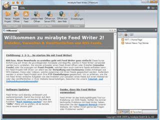 RSS Editor, der sämtliche RSS-Formate und UTF-8 unterstützt.