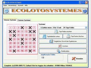 Software für die Erstellung von optimalen Systemwetten für das Lotto.