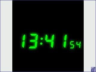 Frei konfigurierbare analoge oder digitale Uhr als Bildschirmschoner