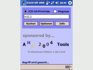 Datenbank der Diagnoseverschlüsselung gemäß ICD10 GM Version 2007 für Ärzte