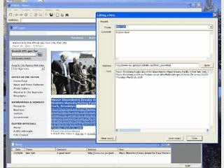Internetbrowser der eine Datenbank zur Speicherung von Texten besitzt.