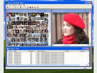 Bildbetrachter und Fotoalbum mit Datenbank