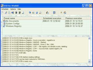 Benutzt Winrar um Dateien und Ordner zu sichern.
