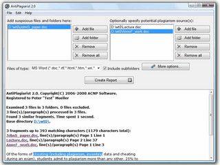 Software zur Suche nach Plagiaten in Textdokumenten.