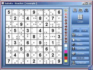 Spielen, generieren, drucken, exportieren und lösen von Sudoku-Rätsels.
