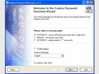 Tool zur Wiederherstellung verlorener Eudora-Passwörter.
