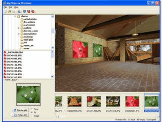 Erstellen Sie eine virtuelle 3D Gallerie mit Ihren Bildern an der Wand.