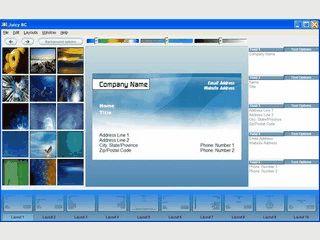 Template-basierte Software zur Erstellung von Visitenkarten.
