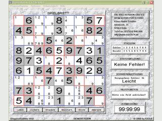 Erweiterte Sudoku Variante mit zwei zusätzlichen diagonalen Linien.