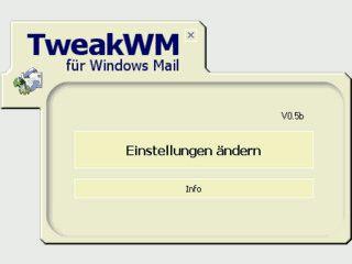 Software zum Verändern der Einstellungen von Windows Mail.