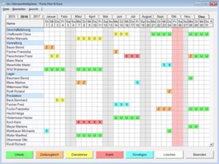 An- und Abwesenheitszeiten von Mitarbeitern schnell und einfach planen