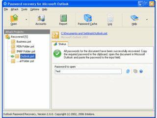 Passwörter von MS Outlook PST Dateien und POP3 Konten entschlüsseln.