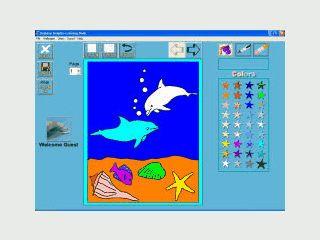 Virtuelles Malbuch für Kinder.