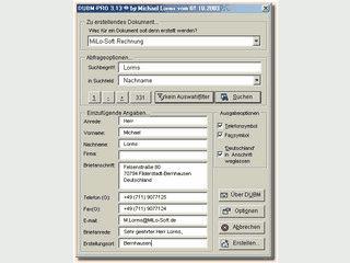 Erlaubt es Ihnen Ihre Outlook-, Excel- und Access-Kontakte in Word zu benutzen.