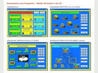 Addition und Subtraktion von 1-20, spielerisches Üben der Mathematik.
