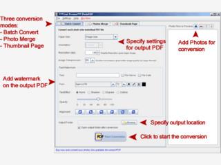 Bilder automatisch in PDF Dateien konvertieren.
