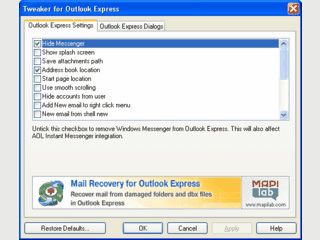 Feintuning und neue Funktionen MS Outlook Express.