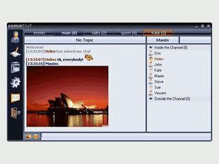 Text- und Voice-Chat für lokale Netzwerke und Internet