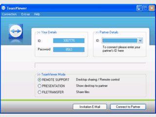 Einfache Fernwartung eines Computers via Internet.