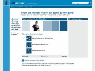 Beratungssoftware und Auswahlhilfe als Verkaufsförderung via Internet