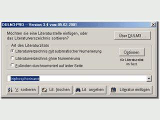 Word-Literaturverwaltung mit Datenbankimport