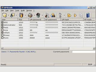 Recovery für Passwörter von Windows Benutzerkonten.