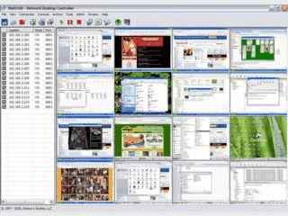 Zeigt den Desktop von beliebig vielen Computern eines Netzwerks an.