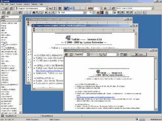 TxtEdit ist ein Textbearbeitungsprogramm für Text- oder Richtextdateien.