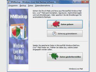 Datensicherung von Windows Live Mail.