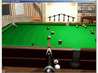 3D Billiard Simulation die mit Maus und Tastatur gespielt wird.