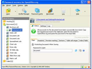 Gespeicherte Passwörter für OpenOffice Dokumente wieder herstellen.
