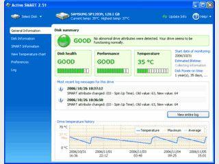 Sehr gutes Festplatten-Diagnose Tool das Ihnen alles über Ihre HD verrät.