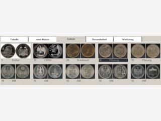 Umfangreiche Software für die Verwaltung von Münzen.