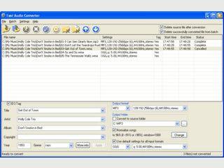 Schneller Konverter für Audiodateien der Formate: WAV, MP3, WMA9, OGG und APE