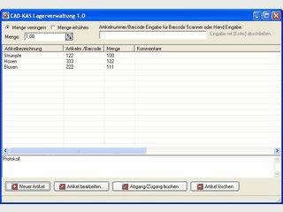 Einfache Software für die Lagerverwaltung von beliebigen Waren.