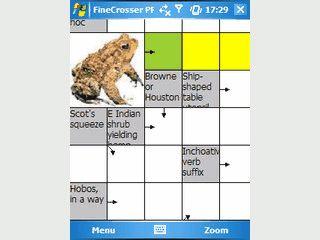 FineCrosser PPC ist ein englischsprachiges Kreuzworträtsel für PDAs.
