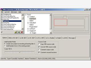 Konvertiert Visual Basic 6 Projekte in andere Programmiersprachen.