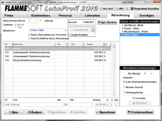 Software zur Berechnung von Löhnen und Gehalter für beliebig viele Mitarbeiter